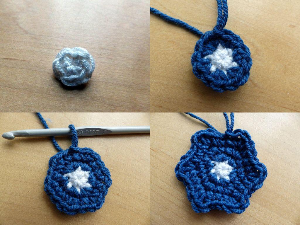 Moroccan Hexagon Motif Rounds 1-4 - Free Crochet Pattern by Make My ...