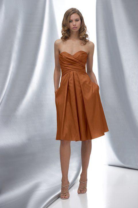 Rum colored dress.