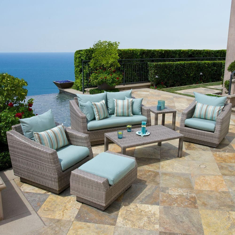 RST Brands Cannes 6 Piece Loveseat Conversation Set   Spend Time With  Friends And Family This Summer, While Relaxing In Comfort And  Sophistication With The ...