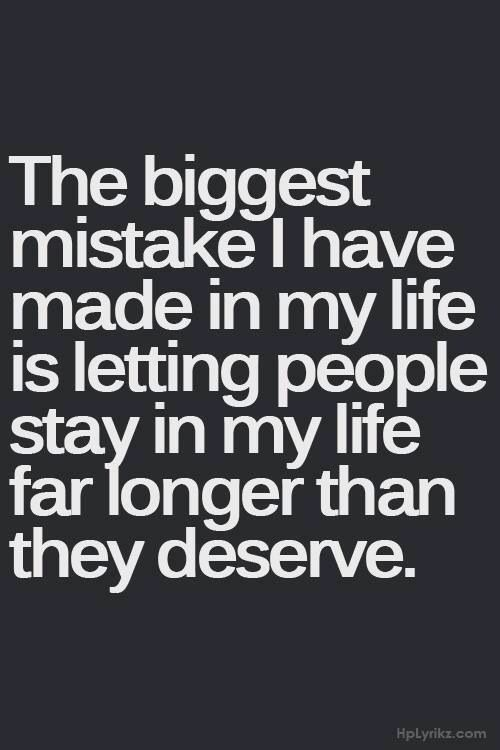 Biggest mistake......