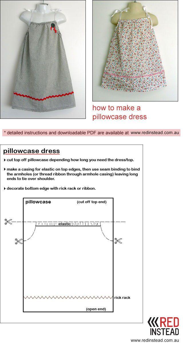 pillowcase dress instructions | Kim\'s | Pinterest | Vestiditos