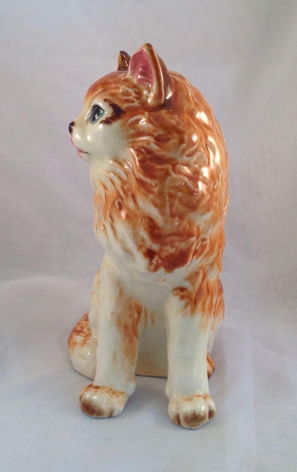 "Large Vtg Mid Century 1950s Nippon Yoko Boeki Japan Orange Tabby Cat Figurine 7"" | eBay"