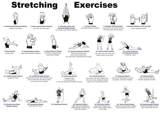 Whole body stretching routine for improved flexibility and
