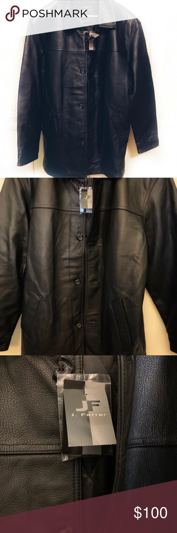 Jj Ferrar Men S Leather Jacket Leather Jacket Jackets Leather