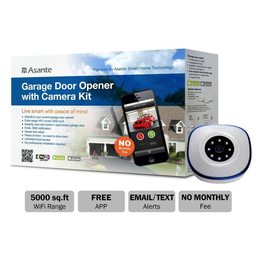 2 Will Win A 148 71 Asante Garage Door Opener With Camera Kit Just Submit Your Entry At Amazon Toda Garage Door Opener Smart Garage Door Opener Garage Doors