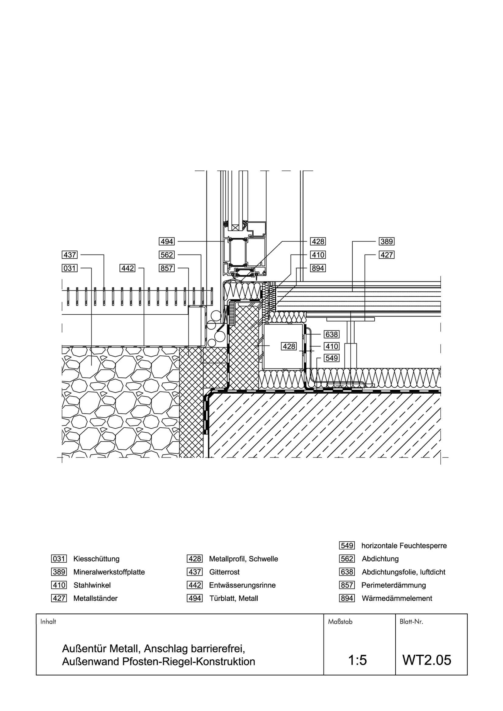 Holzbau Detail Sockel Barrierefreies Bauen Details