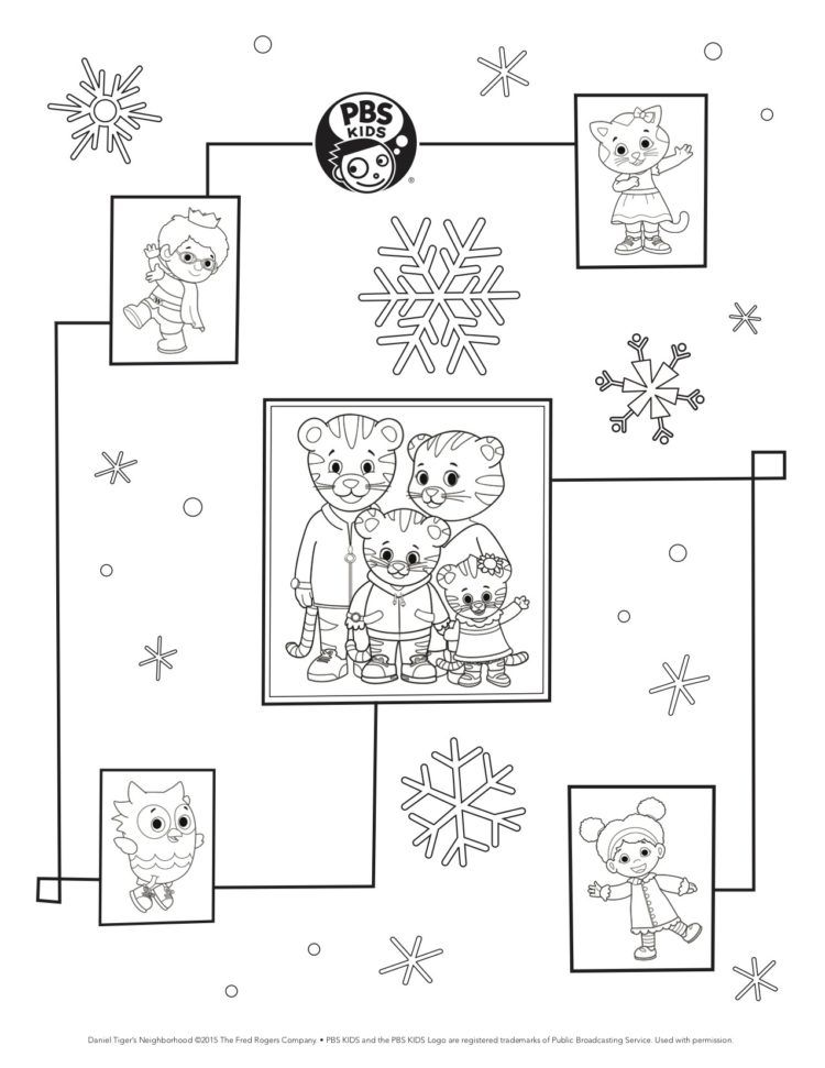 Daniel Tiger Wrapping Paper Kids Coloring Pbs Kids For Parents Daniel Tiger Coloring Pages Daniel Tiger Birthday