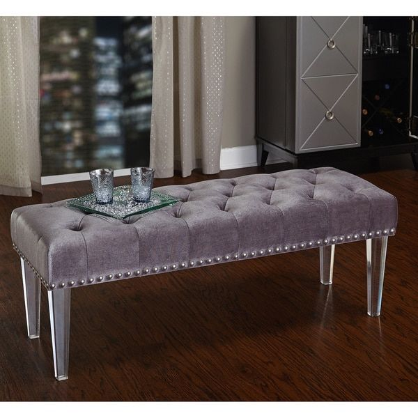 Simple Living Leona Bench With Acrylic Legs