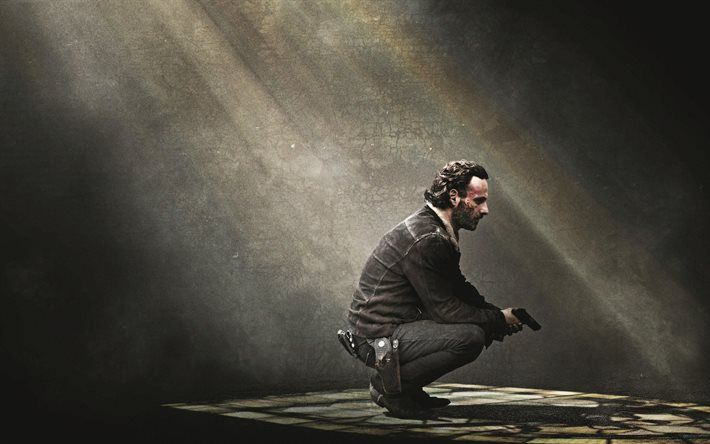 The Walking Dead 4k Poster Rick Grimes The Walking Dead