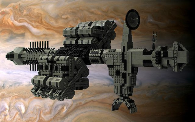 Leonov Space Odyssey Spaceship Art Lego Film