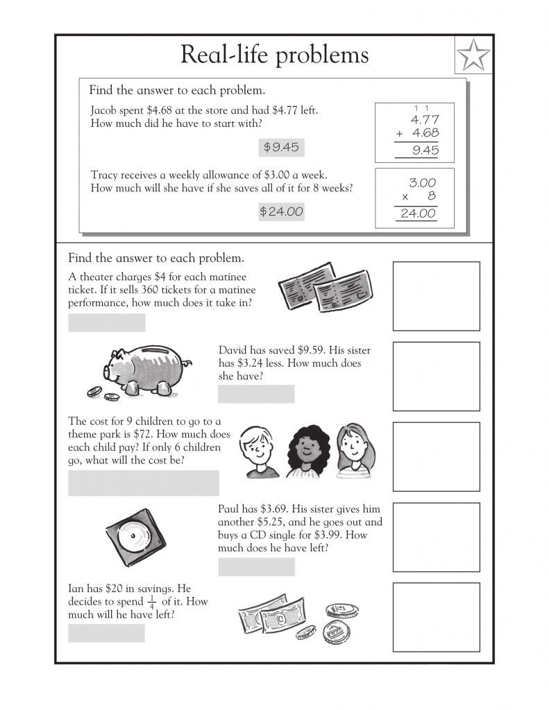 4th Grade Math Word Problems Math word problems, Math