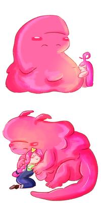 Neddy Bubblegum and Bonnibel Bubblegum