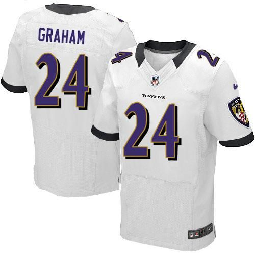d84750818ac Nike NFL Baltimore Ravens 24 Corey Graham white Elite Road Jersey ...