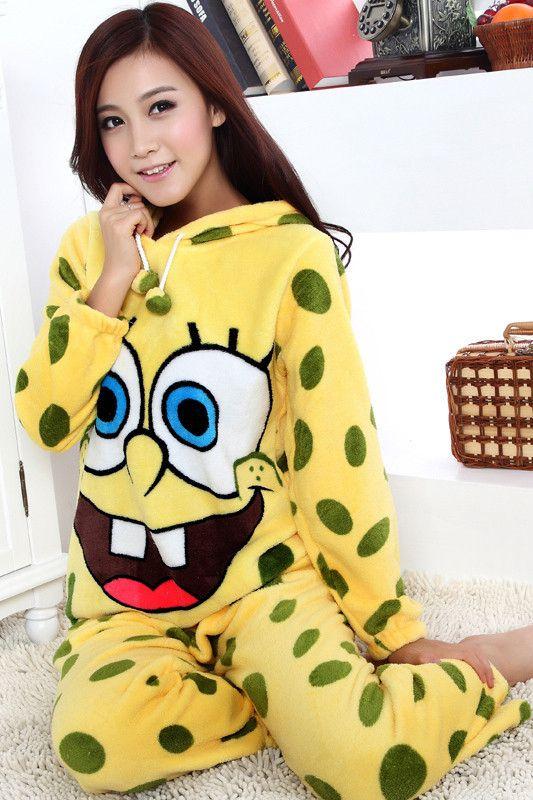 8b9a8e3ee4725 Spongebob fleece pajama for squarepants fans