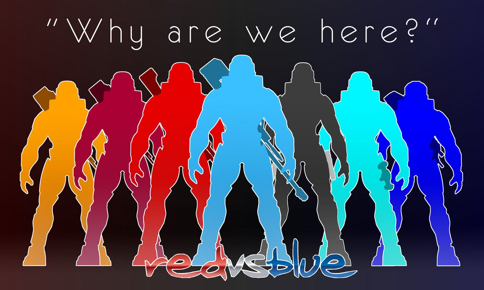 Why Are We Here Red Vs Blue Wallpaper By Jbn0s0rus Red Vs Blue
