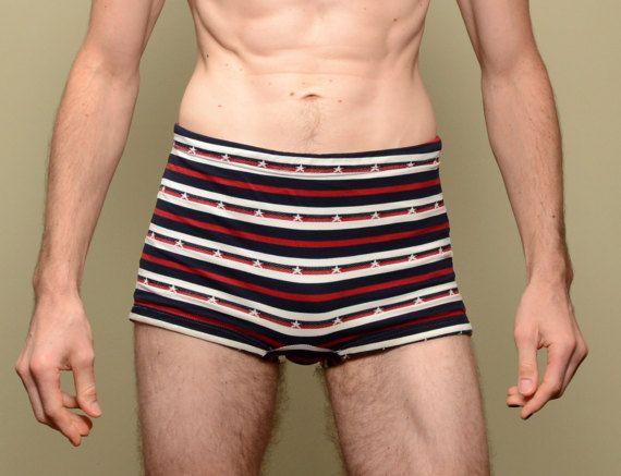 32a9295678 mens vintage bathing suit 60s swimsuit speedo trunks red white blue stars  stripe 1960 surf speedo tr
