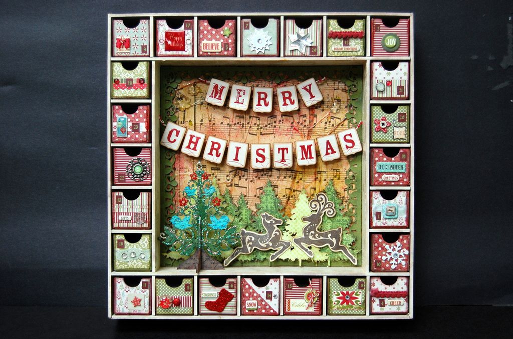 Advent Shadow Box Idea. Shadow Box Kit By Kaisercraft