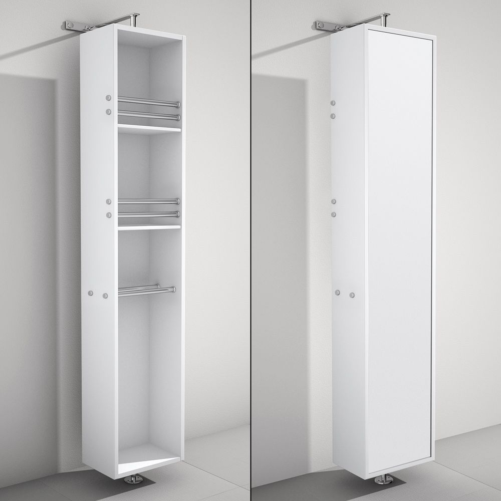Attractive The April Rotating Floor Cabinet With Mirror Takes Modern Looks And  Bathroom Storage To The Next
