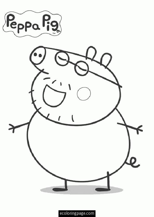 peppa-pig-papa-pig-coloring-page-for-kids-printable THL - new free coloring pages for peppa pig
