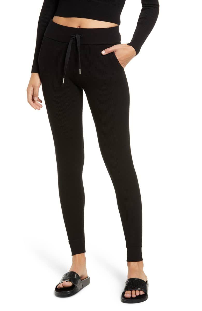 22c050075290ec Ribbed Jogger Pants, Main, color, BLACK | Clothes & Style | Jogger ...