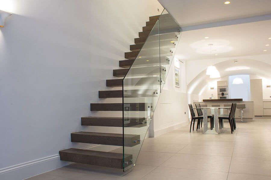 Best Contemporary Staircases Glass Staircase London Helical 400 x 300
