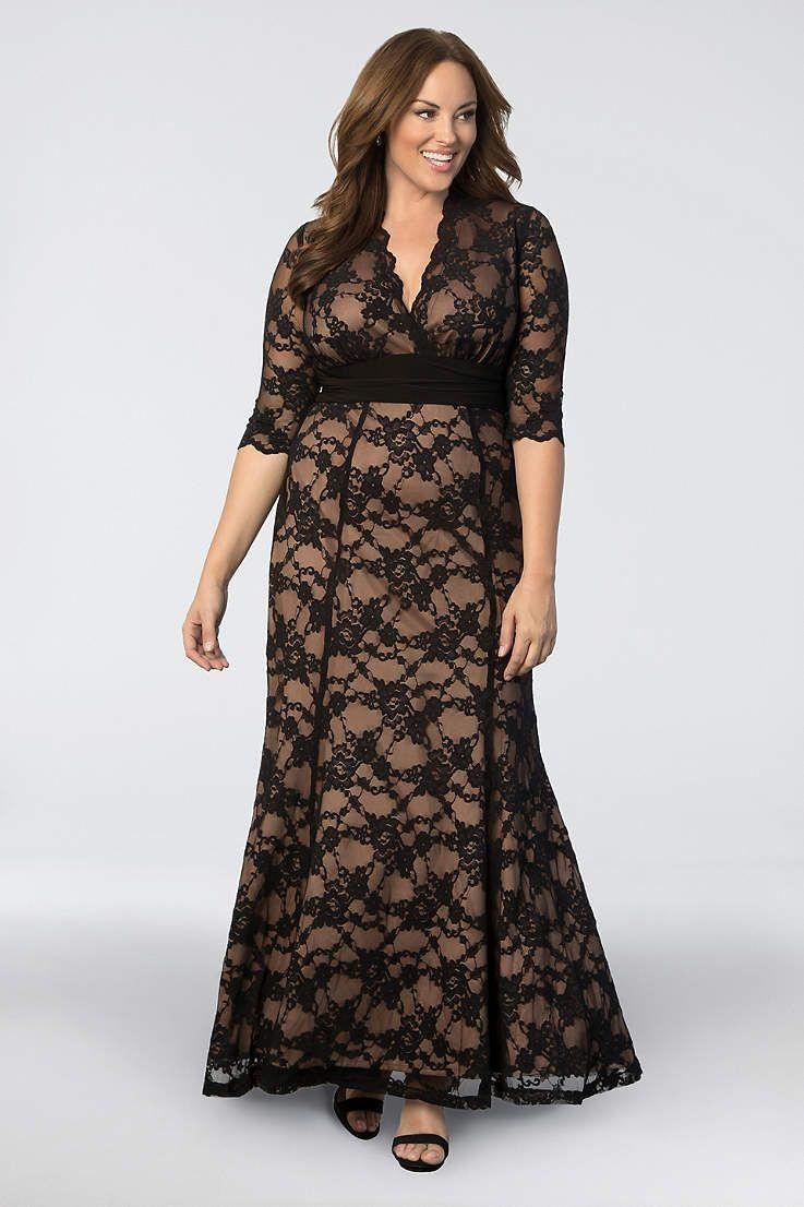 abb390e7145 Long Mermaid  Trumpet 3 4 Sleeves Formal Dresses Dress - Kiyonna   formaldressesforall