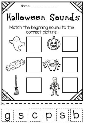 October Halloween Printable Literacy And Math Worksheets Great For Kindergarten A Halloween Worksheets Kindergarten Halloween Kindergarten Halloween Preschool