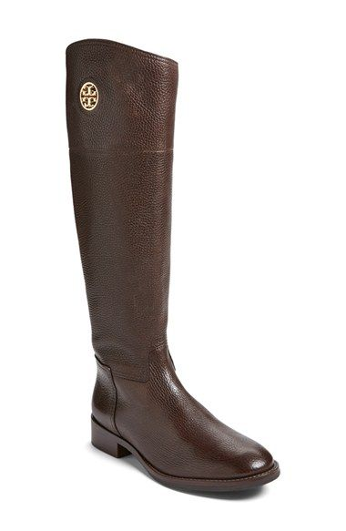 3bdf73f50dc Free shipping and returns on Tory Burch 'Junction' Riding Boot (Women)  (Wide Calf) at Nordstrom.com. A polished logo medallion brings signature ...