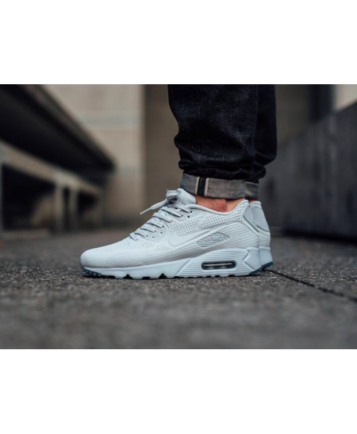 Air Max 90 Ultra Moire All White Trainer With pants very