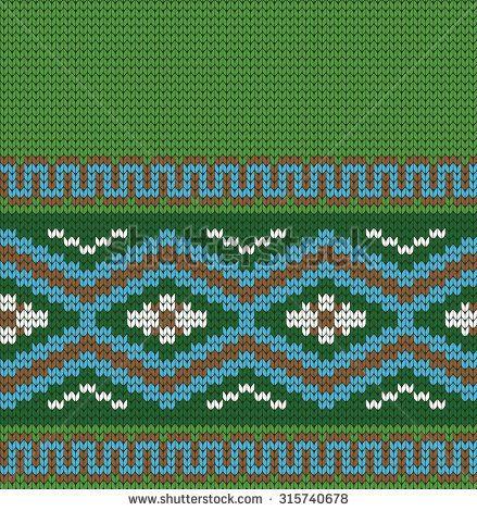 knitted Greek seamless pattern