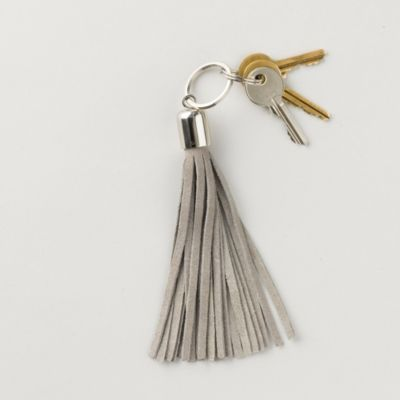 Suede Tassel Keyring from The White Company