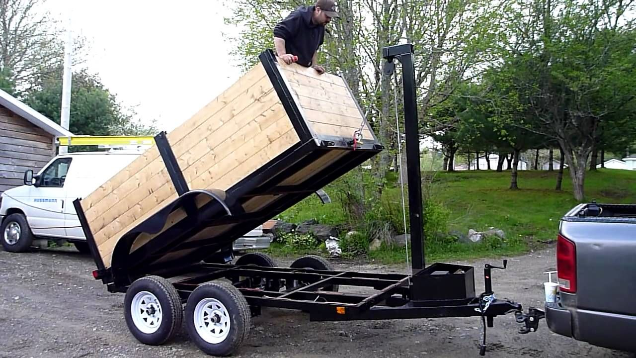 Home made dump trailer with images dump trailers