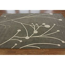@Overstock - This hand made wool area rug uses subtle and modern colors to match today's interiors. The plush wool pile offers great comfort under foot.http://www.overstock.com/Home-Garden/Handmade-Luna-New-Zealand-Wool-Rug-76-x-96/6236636/product.html?CID=214117 $430.99