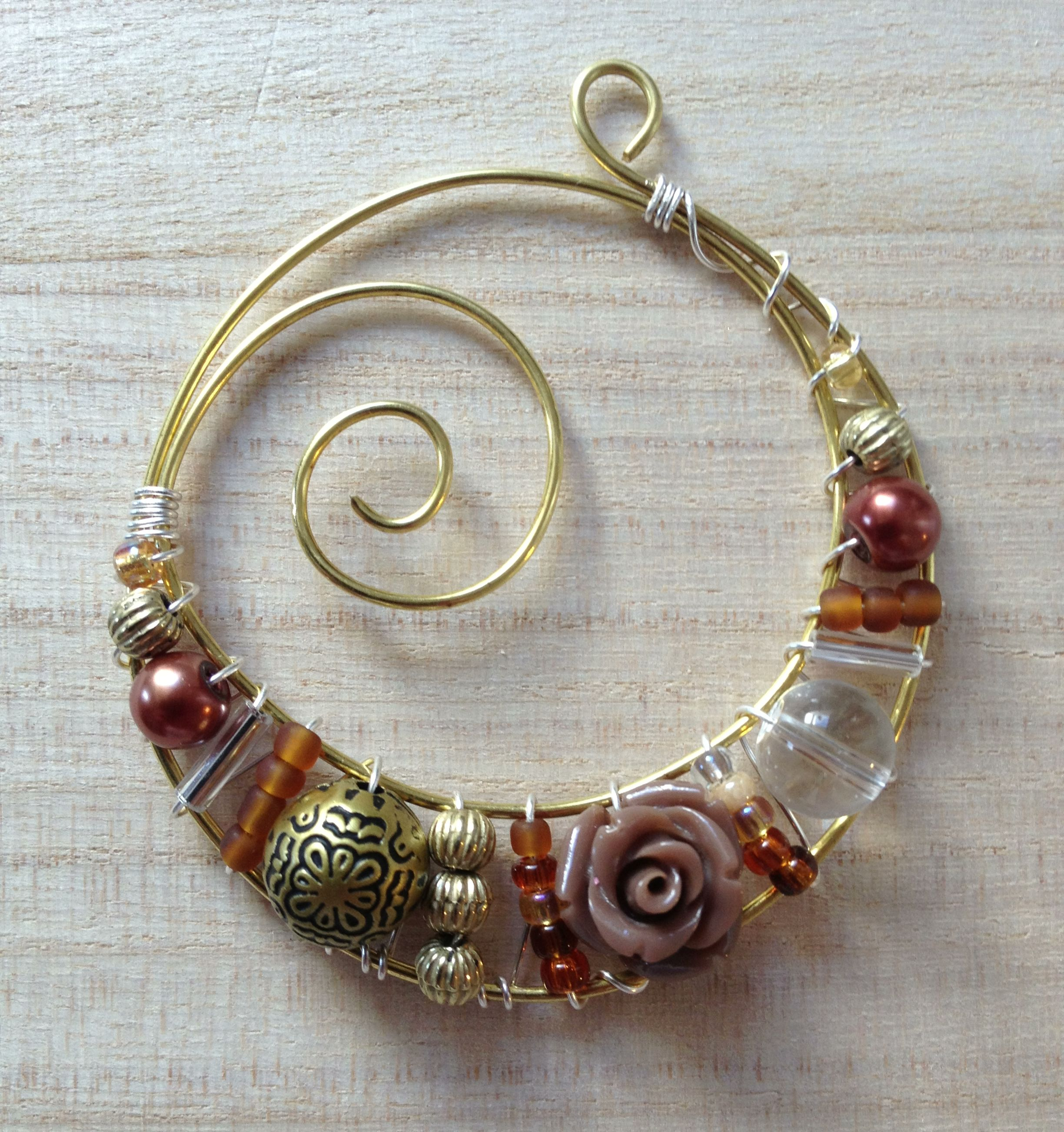 Idean: Make this form and insert the beads or wire shapes. Then cut ...