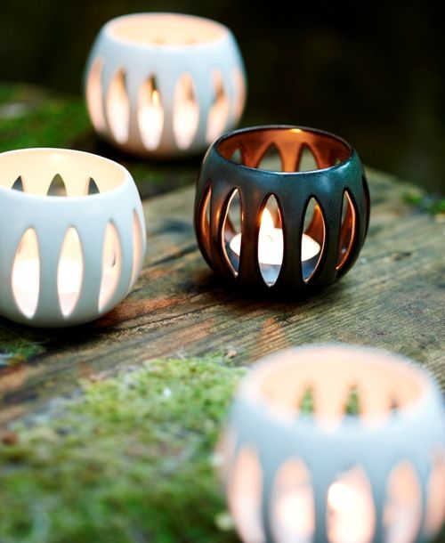 Ceramic Tea Light Holders Pottery Candle Clay Ceramics Pottery Candle Holder