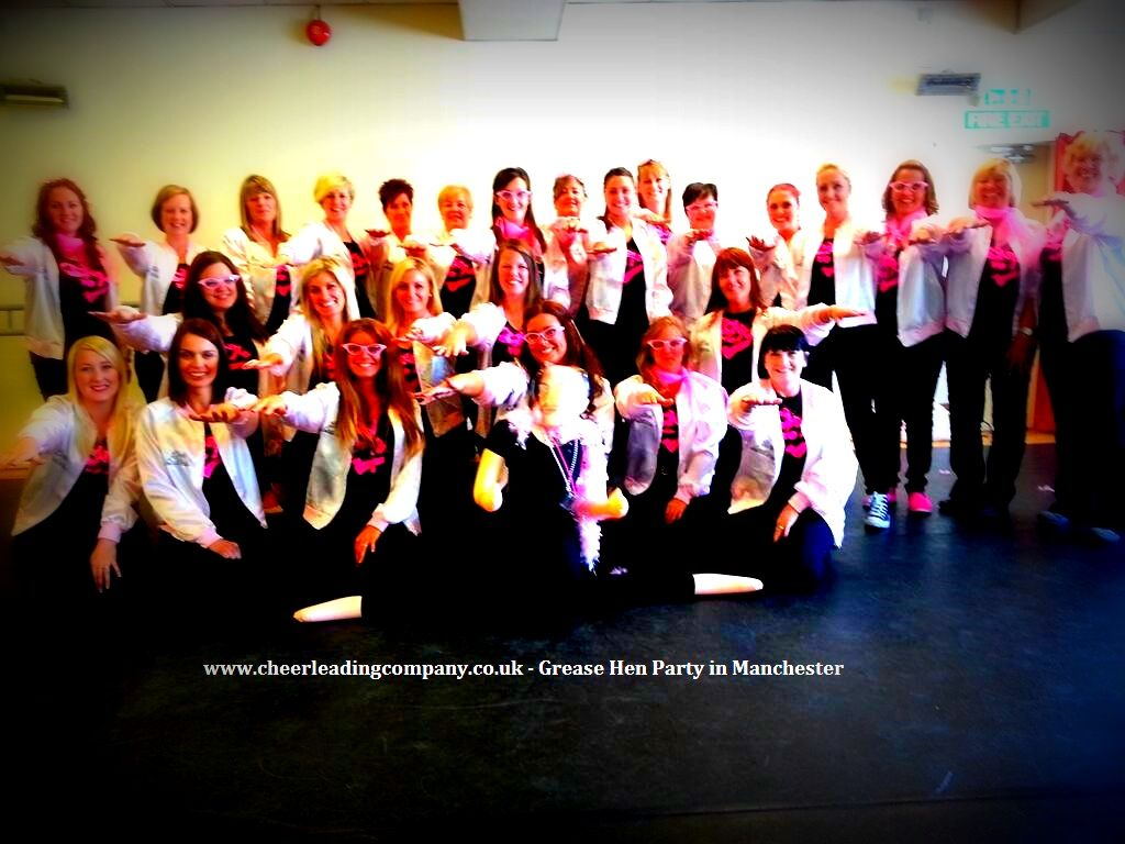 Lovely big group doing our #Grease #Dance #HenParty in Manchester ...