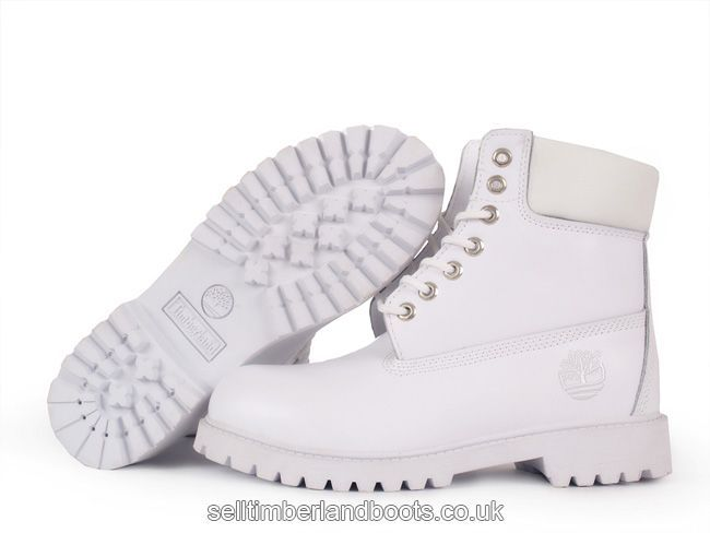 Women's Timberland 6Inch Boots White £65.60 | Timberland