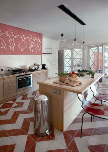 cuisine îlot : 15 photos où la cuisine se fait belle ! | vintage