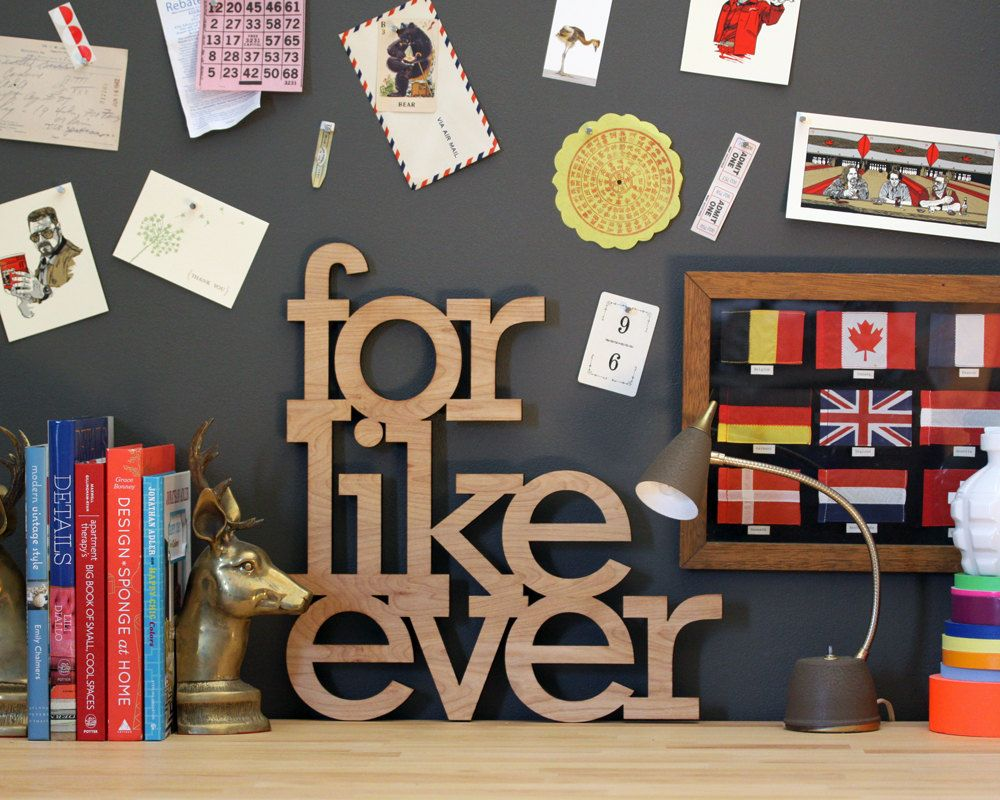 Wedding decoration ideas for bedroom  for like ever wood sign in any color  FOR THE HOME  Pinterest