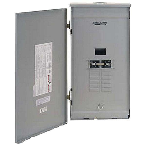 Reliance Controls 100 Amp Outdoor Transfer Panel W Wattmeters Trc1003cr Locker Storage Portable Generator Space Up