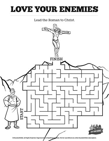 Matthew 5 Love Your Enemies Bible Mazes: Your class is