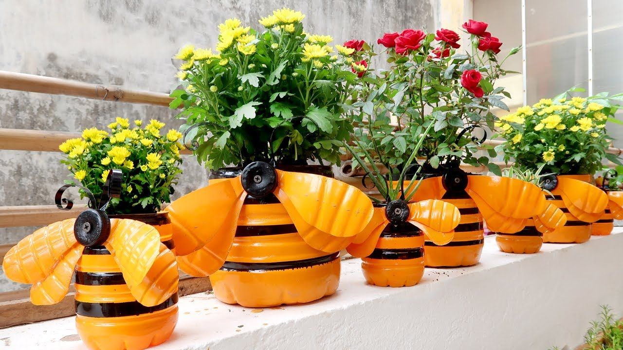 Amazing Plastic Bottle Recycling Ideas Unique Flower Pots For