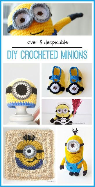 Free Minion Inspired Crochet Patterns Round Up   Tejido, Gorros y ...
