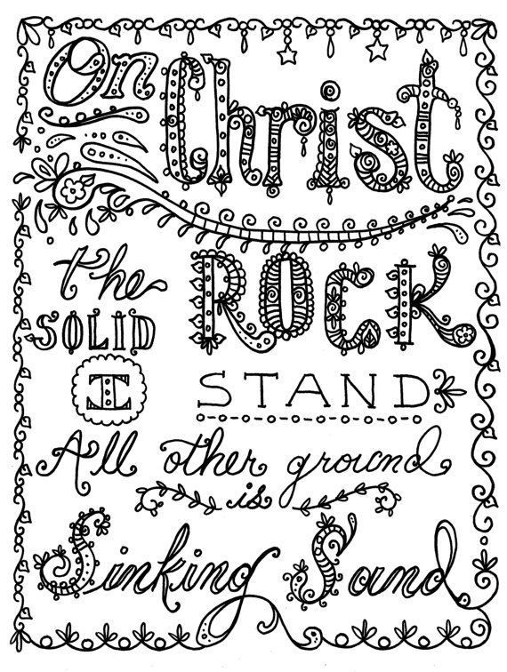 Hymn Coloring Pages