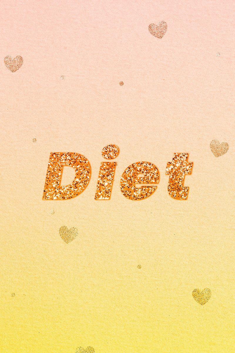 Diet Gold Glitter Text Font Free Image By Rawpixel Com Jingpixar Glitter Text Free Illustrations Gold Glitter