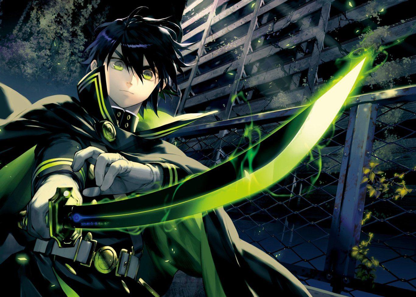 Anime Seraph of the End Yūichirō Hyakuya Papel de Parede ...