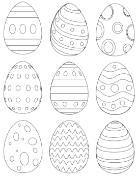 25 free printable easter egg templates  easter egg coloring pages  coloring easter eggs