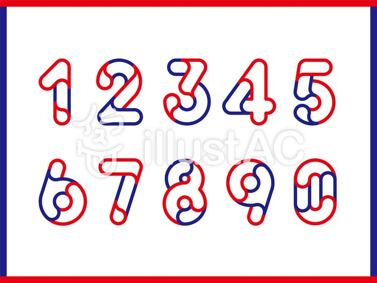 0から9の数字フォント フォント 数字 フリーフォント