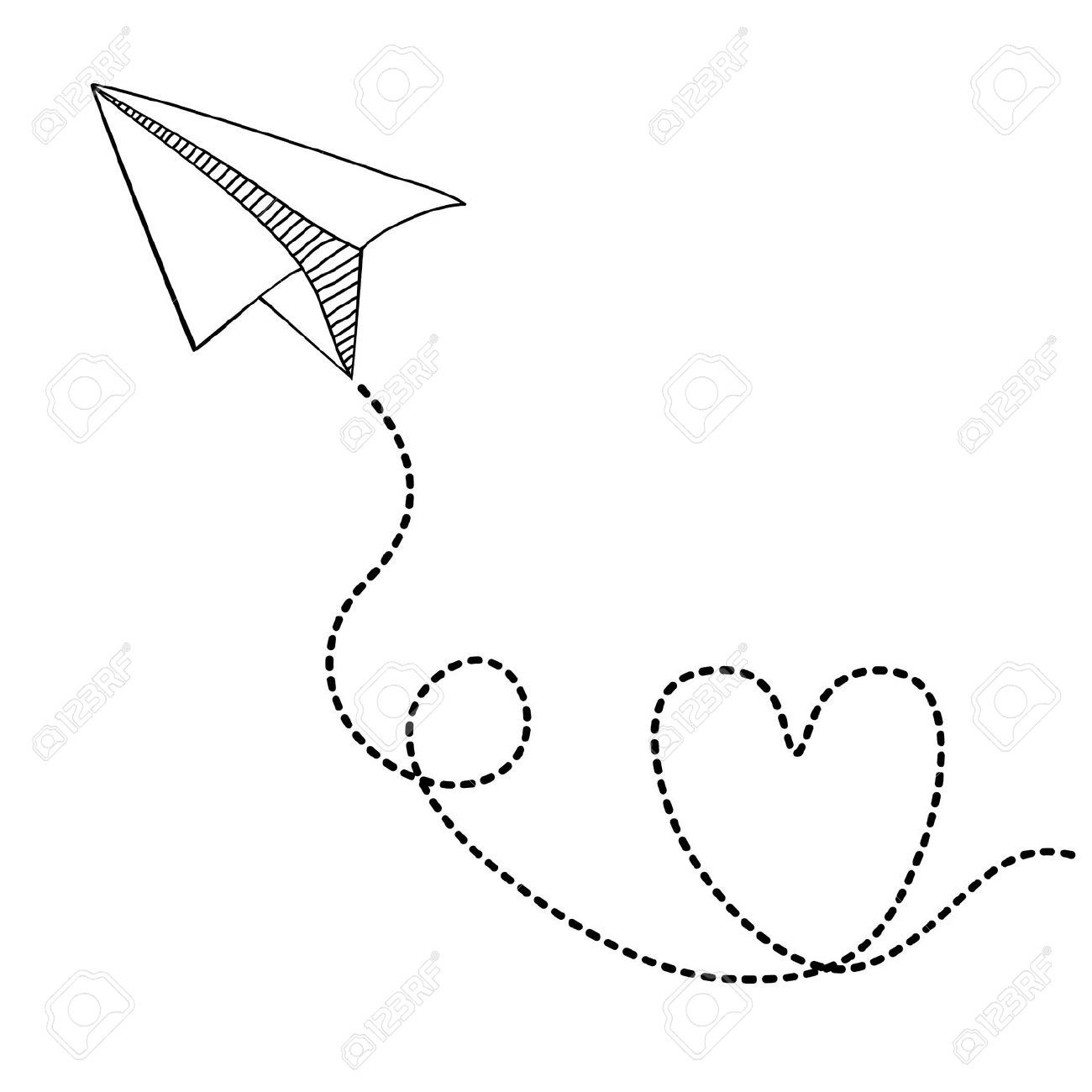 Paper Plane Drawing Tumblr Airplanes Drawings