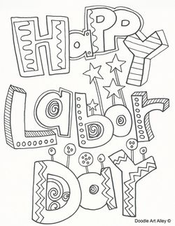 Labor Day coloring sheets | September - Labor Day, 9-11 ...